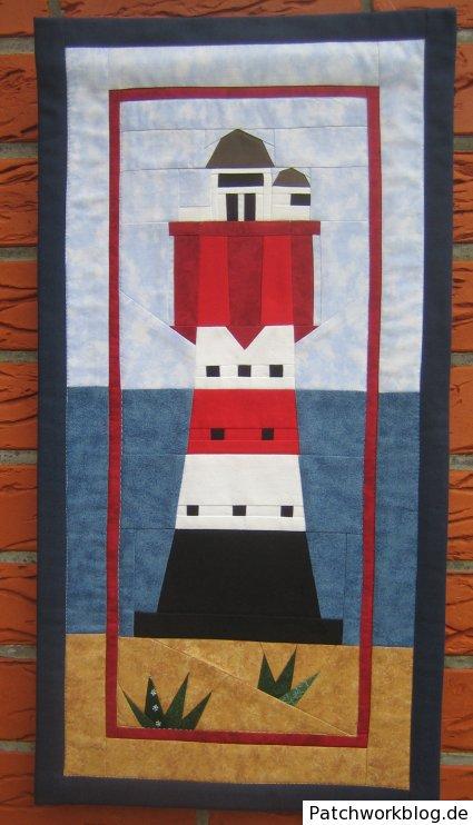 Patchwork mit Leuchtturm-Motiv