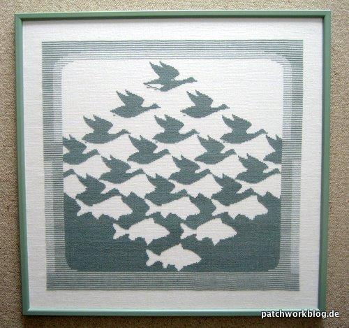 kreuzstich-bild-mc-escher-aero-und-aqua-patchwork-quilt